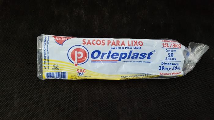 SACO DE LIXO 15 LTS ROLO C/ 20UN