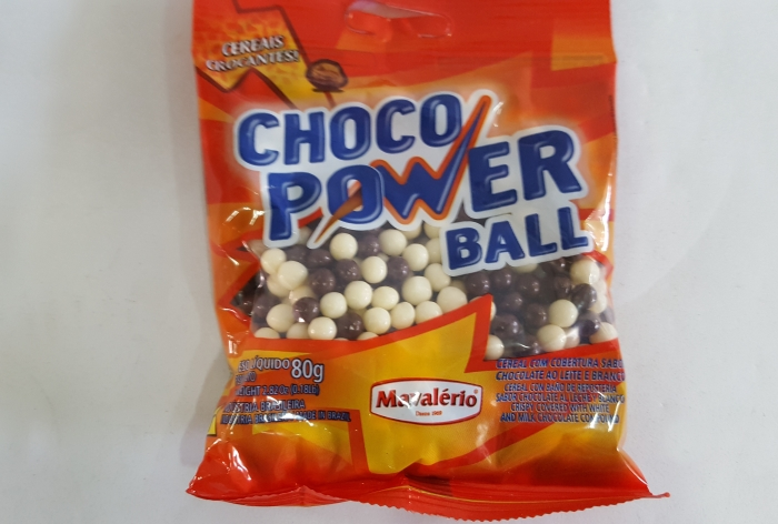 CHOCO POWER BALL MINI PRETO E BRANCO 500 GR