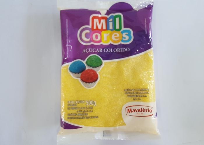 AÇÚCAR COLORIDO MIL CORES AMARELO 500 GR