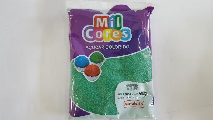 AÇÚCAR COLORIDO MIL CORES VERDE 500 GR