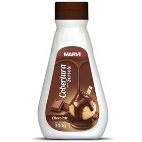 COBERTURA P/ SORV. 300g CHOCOLATE MARVI