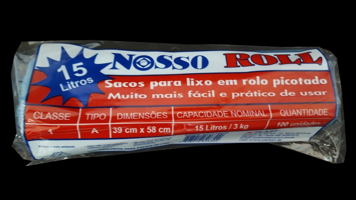 SACO DE LIXO 15 LTS C/ 100 UNI NOSSO ROLL