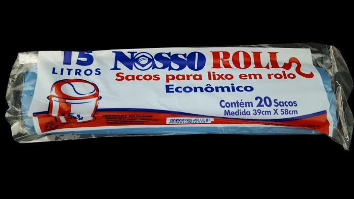 SACO DE LIXO 15 LTS ROLO C/ 20 UN NOSSO ROLL
