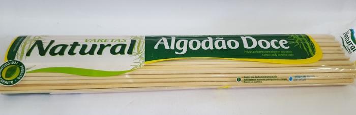 ESPETINHO P/ ALGODÃO DOCE 40CM NATURAL