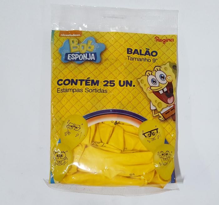 BALÃO BOB ESPONJA Nº 9 AMARELO