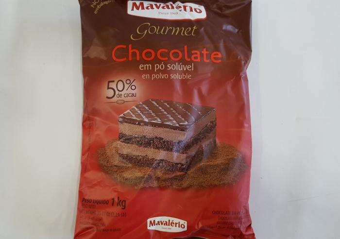 CHOCOLATE EM PÓ 50 % CACAU 1 KG MAVALERIO