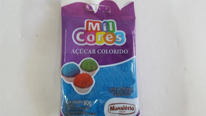 AÇÚCAR COLORIDO AZUL 80 GR MIL CORES MAVALERIO