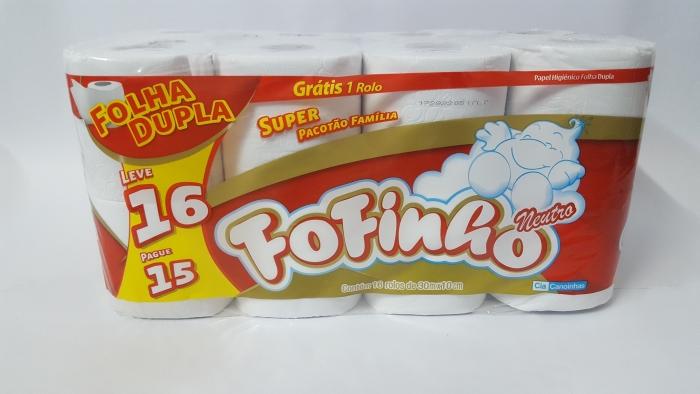 PAPEL HIGIÊNICO FOFINHO 16 ROLOS 30 MTS