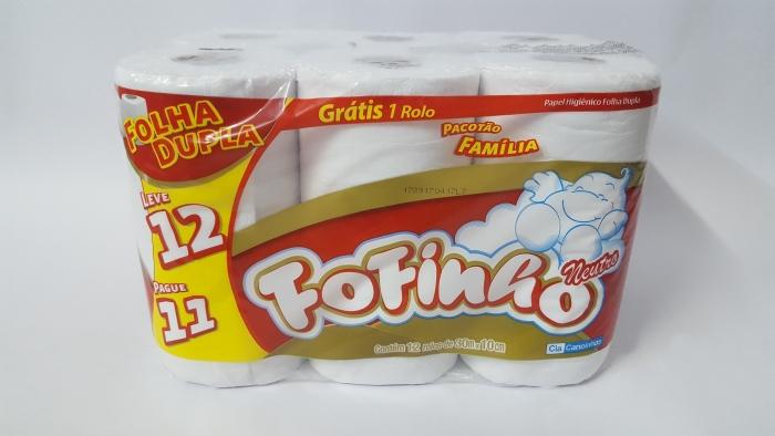PAPEL HIGIÊNICO FOFINHO 12 ROLOS 30 MTS