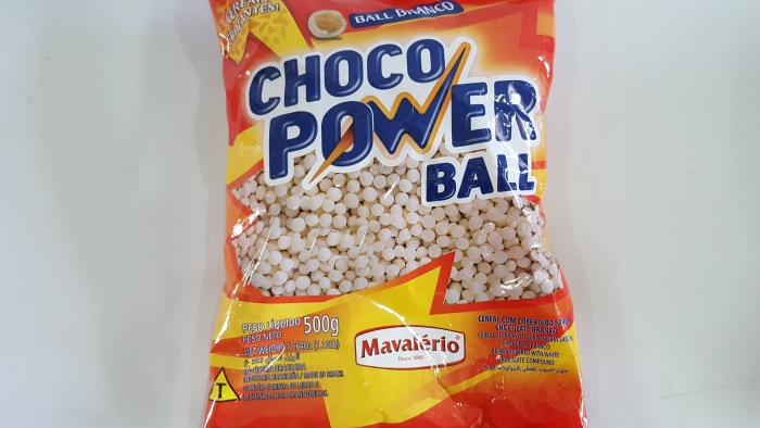 CHOCO POWER MINI BRANCO 500 GR MAVALERIO