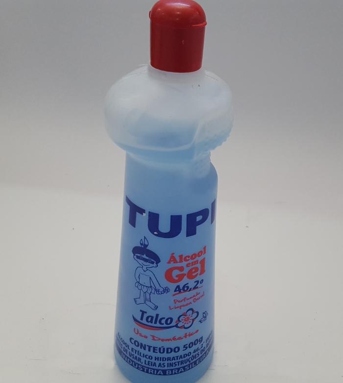 ÁLCOOL EM GEL TUPI 46,2 TALCO 500G