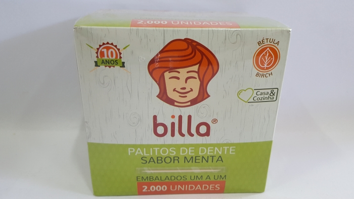 PALITO DENTAL MENTOLADO BILLA C/ 2000 UN