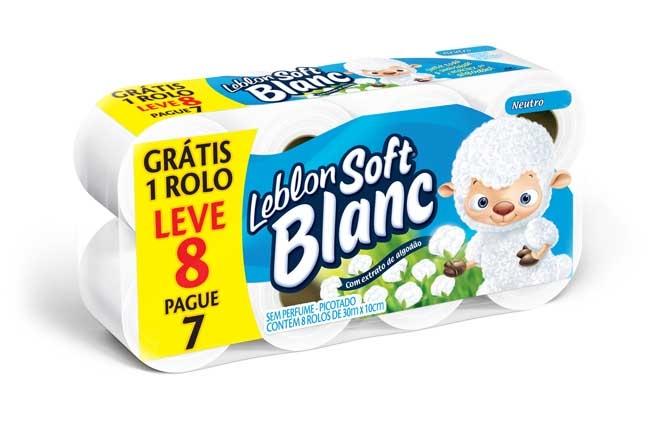 Papel higienico leblon soft simples 8 rolos