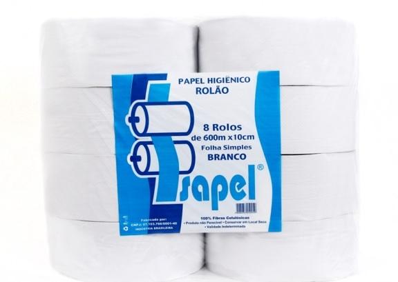 Papel higienico institucional branco 8 x 600m (rolao) - Isapel