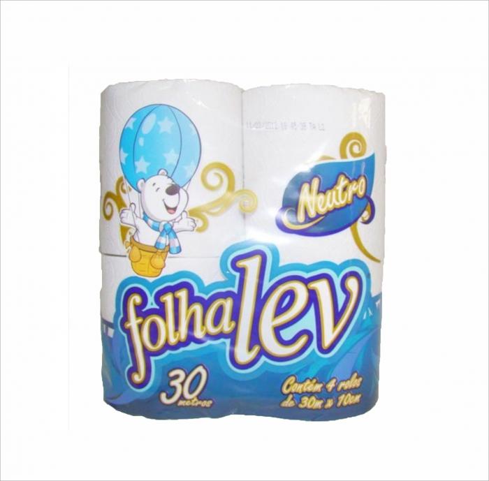 Papel higienico FolhaLev f.simples 30m 4un