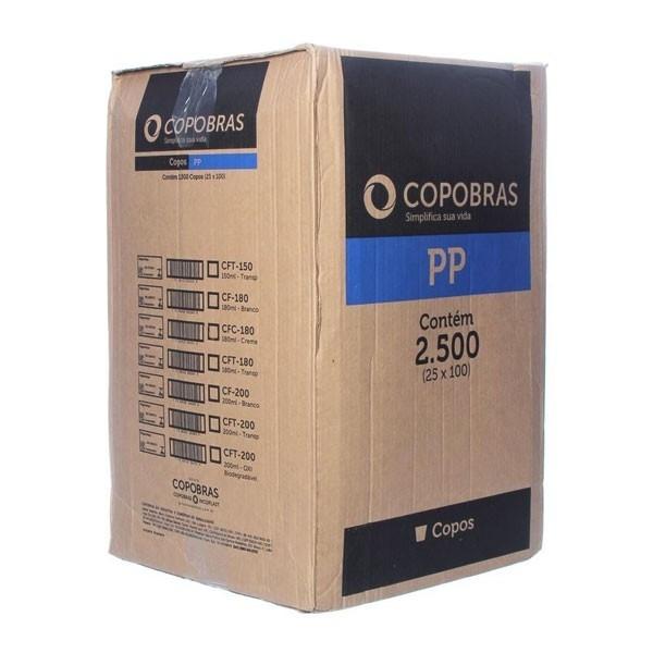 Caixa Copo 180ml brc PP c/ 2500 Copobras