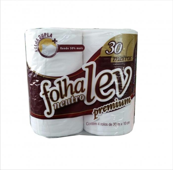 Papel higienico FolhaLev f.dupla 30m 4un