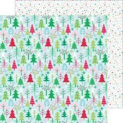 Papel Here Comes Santa Claus Tis´ the Season - Doodlebug