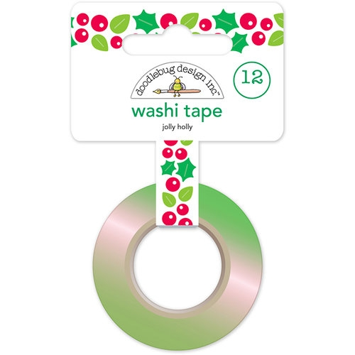 Washi Tape - Fita Adesiva Jolly Holly Santa Claus