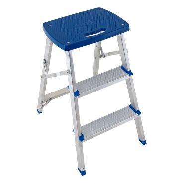 Escada banqueta aluminio Mor