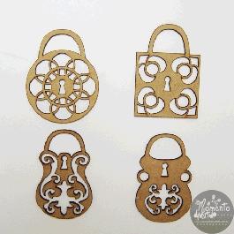 MDF Cadeados Vazados 5 cm