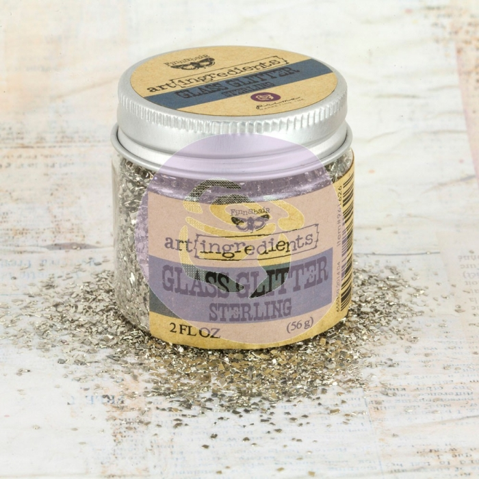 Art Ingredients Glass Glitter - Sterling 56g - Prima Marketing