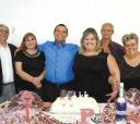 Patrícia e Tiago no dia do seu noivado (acompanhado dos pais Marilene – Giórgio Edy Matarazzo (dela) e Cristina e Euclides de Oliveira Júnior (dele) - Foto: Beto