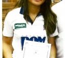 A atleta itapetiningana Letícia Mari Konno, dezesseis anos, especialista em badminton (uma espécie de tênis) homenageada pela Câmara Municipal, no último onze (setembro)  /  Foto: Leiko Konno