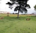 Hoje o terreno é em parte ocupado por uma área de lazer,  mas na época, local seria semelhante ao usado no Jockey Clube da capital paulista