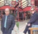 O casal itapetiningano Marly (Larizatti) – José Antonio Bueno na Via Siena, em Campos do Jordão, interior paulista, no início deste abril