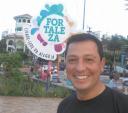 Neste último março, o repórter da TV-TEM daqui, Carlos Alberto Soares, em férias na cidade de Fortaleza, Ceará - Divulgação