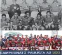 Acima, o time da Lusa de 1950 , com Djalma Santos no elenco e, abaixo, o último título da A2 em 2013