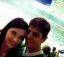 """No último dois (dezembro) numa quarta-feira, à noite, no enorme Allianz Parque, em São Paulo, os namorados itapetininganos Maíra de Freitas e Thiago Piedade, no final da """"Copa Brasil de Futebol"""", vencido pelo Palmeiras frente ao Santos"""