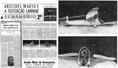 Um dos jornais da época que noticiaram a invenção de Aristides Warto / Publicação descreveu os modelos dos aparelhos aeronáuticos idealizados