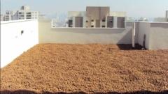 Argila expandida é obtida da queima da argila natural ficando em forma de bolinhas, aplicada em lajes pode dimunuir a temperatura do ambiente