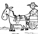 Em seu veículo singelo, puxado geralmente por burro, com resguardo de grades, lerdo e vagaroso, Patrício transitava placidamente pelas ruas, algumas calçadas, cumprindo seus serviços