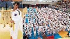 """A competição aconteceu no Ginásio Municipal """"Celso Daniel"""" reunindo 1200 participantes de todo Estado"""