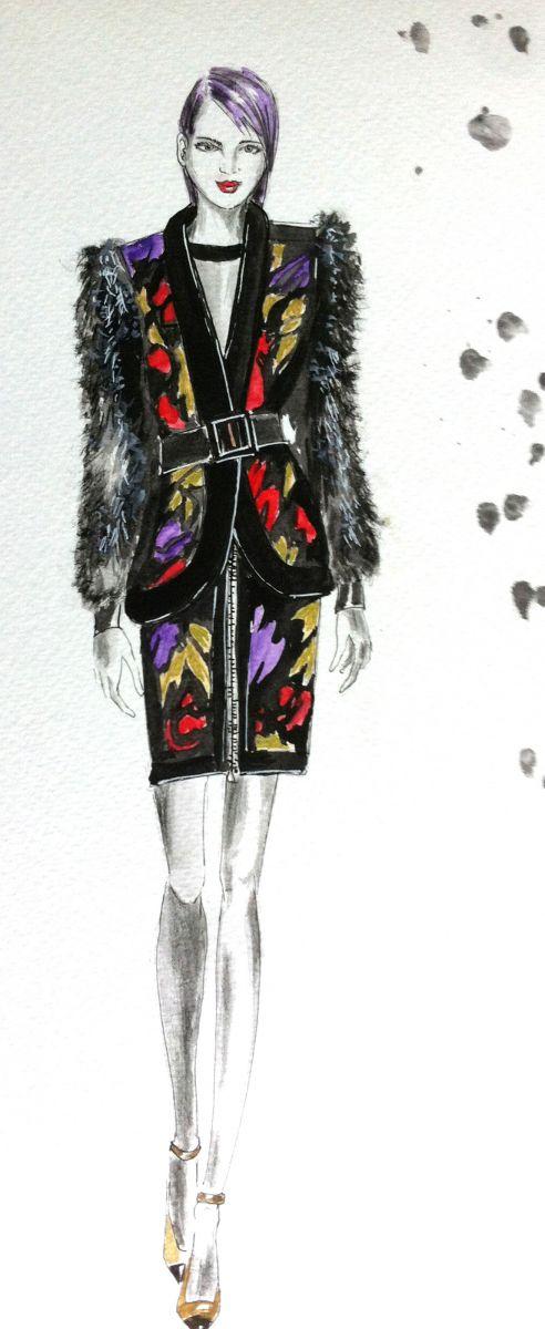 técnicas de pintura de desenho de moda audacesaudaces