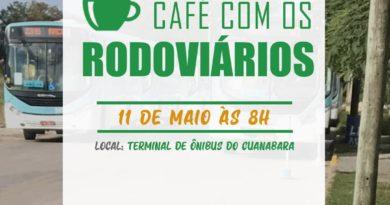 Café com os Rodoviários no terminal de ônibus do Guanabara!
