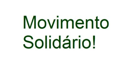 Movimento solidário!