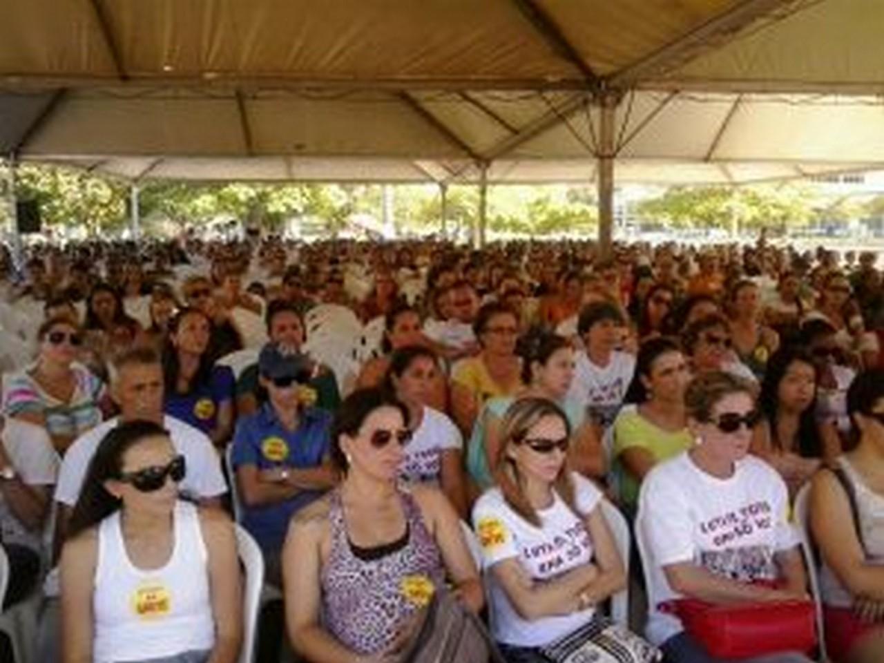 Servidores fizeram quatro dias de greve. Foto: Tiago Duarte