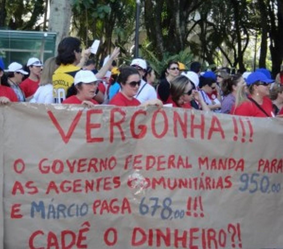 Manifestação dos servidores de Criciúma