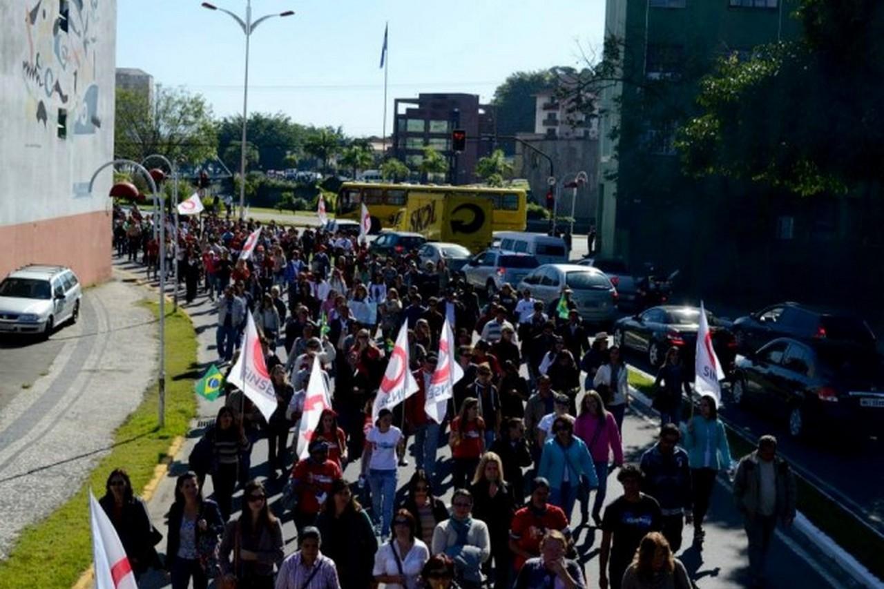 Próximo ato da greve será sexta (6/6), 9 horas, na Prefeitura I Foto: Johannes Halter