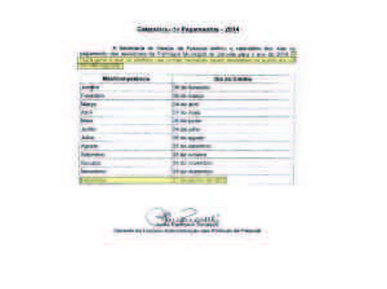 cronograma de pagamento -feito