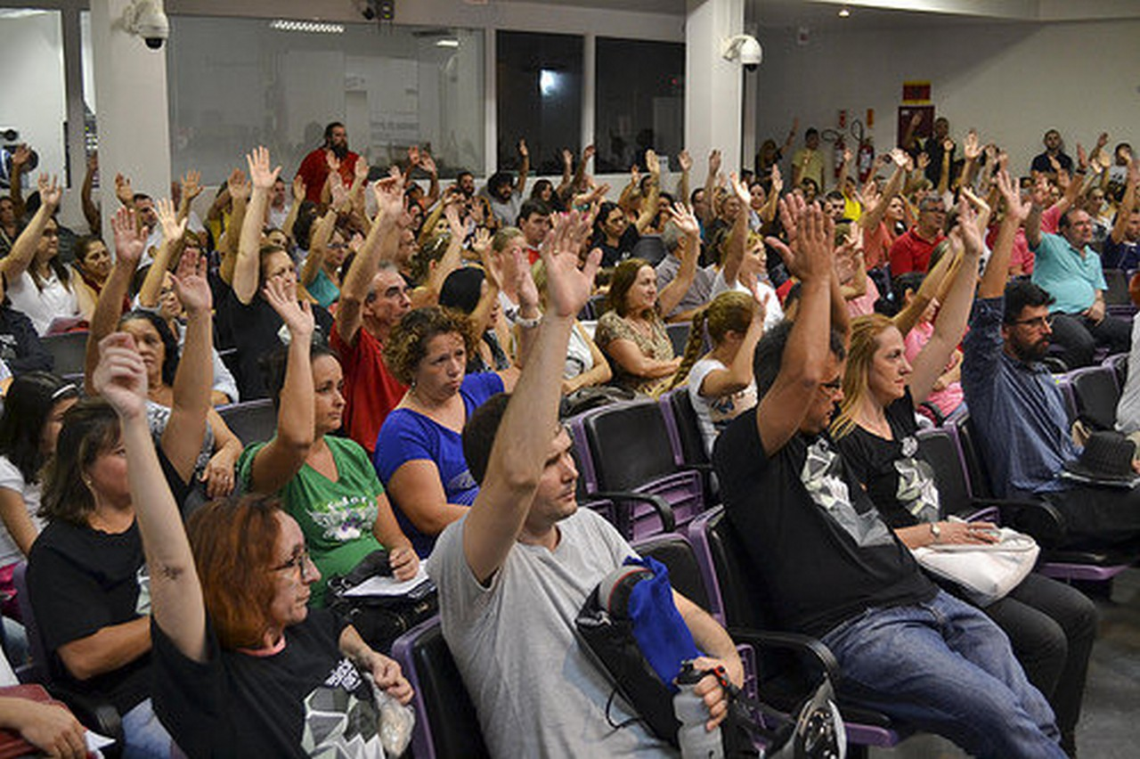 Última assembleia aconteceu em 31 de março e definiu Pauta de Reivindicações 2015 I Foto: Francine Hellmann
