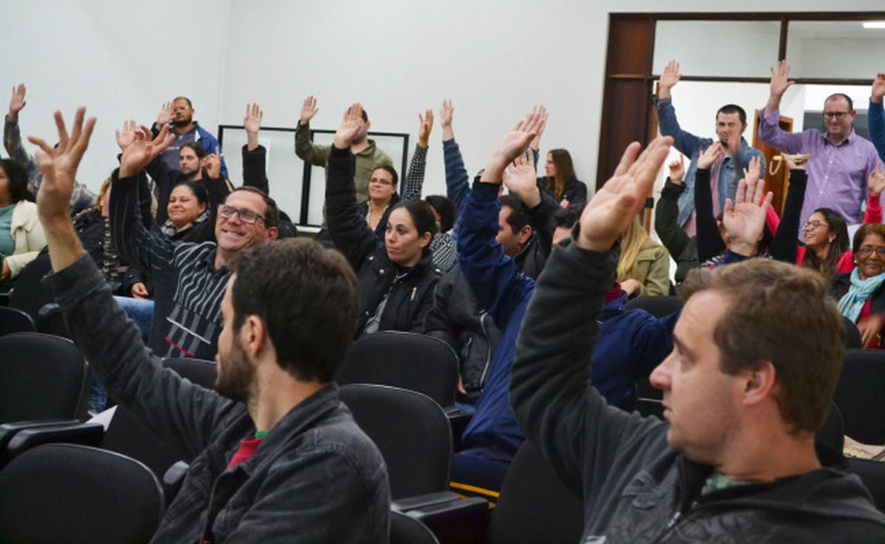 Servidores de Itapoá decidem por unânimidade entrar em estado de greve I Foto: Aline Seitenfus