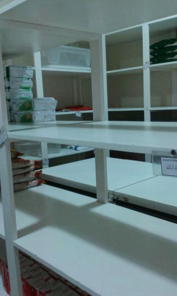 Prateleiras vazias mostram a falta de alimentos I Foto: Divulgação