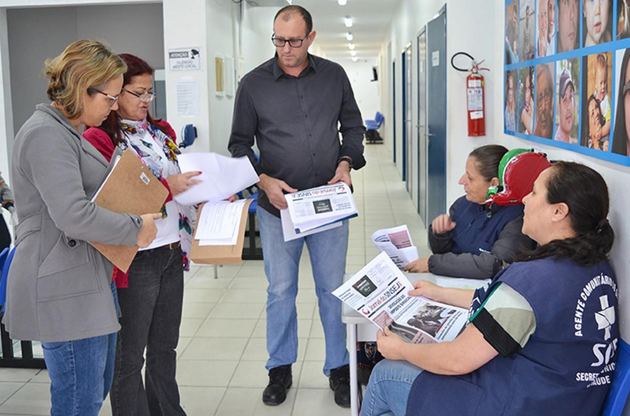 Servidores apresentaram demandas durante visita dos diretores I Foto: Aline Seitenfus