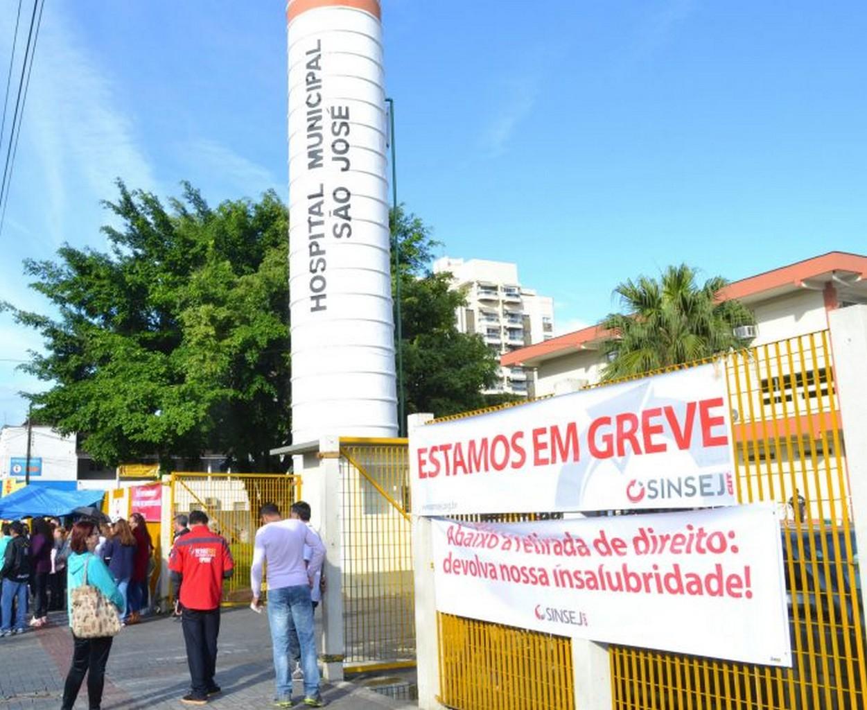 Trabalhadores do hospital são referência de luta e têm muitos motivos para cruzar os braços