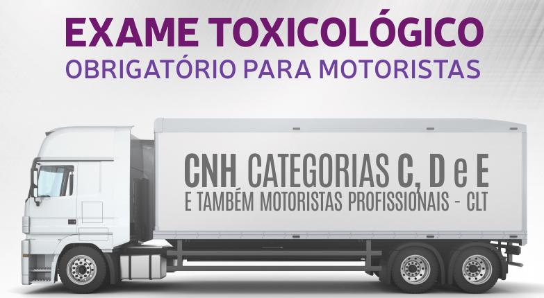 EXAME TOXICOLÓGICO SE TORNA OBRIGATÓRIO NA ADMISSÃO E DEMISSÃO DE MOTORISTAS PROFISSIONAIS